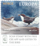 Norway - EUROPA 2019 National birds - Mint stamp