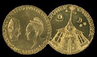 Sølvbryllup 20 kr. Mønt