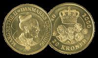 Dk.60 år.mønt 20 kr.