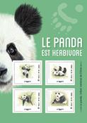 Ranska - Panda - Postituore arkki