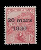 Monaco - 1920 -  Y&T 39, neuf