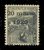 Monaco - 1920 -  Y&T 42, neuf