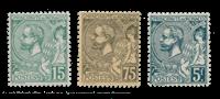 Monaco - 1920/1921 - Y&T 44/45 + 47, neuf