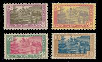 Monaco 1924/1933 - Y&T 100/103, neuf