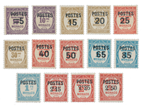 Monaco - 1937 - Y&T 140/153, neuf