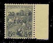 Monaco - 1920 -  Y&T 37, neuf