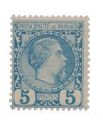 Monaco - 1885 - Y&T 3, neuf