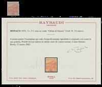Monaco - 1919 - Y&T 33, neuf avec charnière