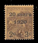 Monaco - 1920 -  Y&T 36, neuf
