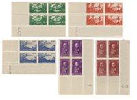 Monaco 1937 - YT 135-139 - Postfrisk