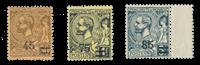 Monaco - 1924 - Y&T 70/72, neuf