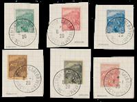 Monaco - 1919 - Y&T 28/33, oblitéré
