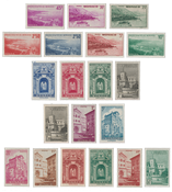 Monaco - 1939/1941 - Y&T 169/183, neuf