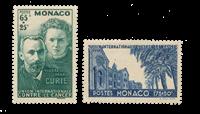 Monaco - 1938 - Y&T 167/168, neuf