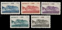 Monaco - 1939 - Y&T 195/199, neuf