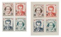 Monaco - 1951 - Y&T 379A/382B, neuf
