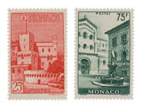 Monaco - 1954 - Y&T 397/398, nuovo