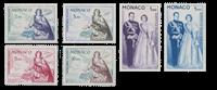 Monaco - 1960/1961 - Y&T PA 73/78, neuf