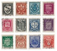 France 1941 - YT 526-37 - Oblitéré
