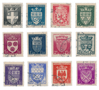 France 1942 - YT 553-64 - Oblitéré