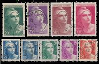 Frankrig 1945 - YT 725/733 - Stemplet