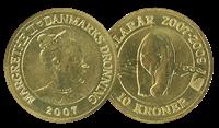 10 kr polarår Isbjørn mønt