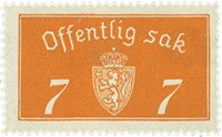 Norvège - Timbres service - AFA 11a - Neuf