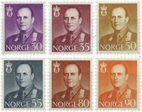 Norge - AFA 445-450 - Postfrisk