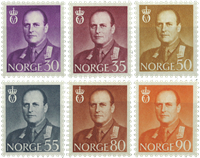 Norge - AFA nr. 445-450 - Postfrisk