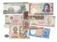 Various countries - Duplicate lot with bank notes