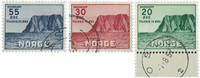 Norge - AFA nr. 394-396 - Stemplet