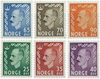 Norge - AFA nr. 410-415 - Postfrisk