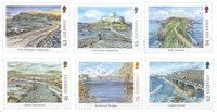 外国邮票 根西岛邮票 2018 新邮 欧罗巴 欧洲 桥梁 系列 纪念邮票 - 新票套票6枚