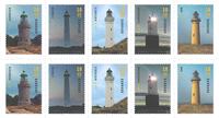 Danmark - Fyrtårne - Postfrisk 10-stribe