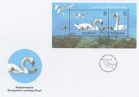 Denemarken - Nationale vogel - FDC met souvenirvelletje