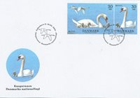 Denemarken - Nationale vogel - FDC met postzegels