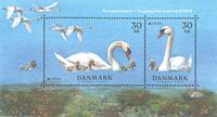 Danmark - Nationalfugl - Postfrisk miniark