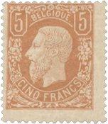 Belgien 1869-83 - OBP 37A - Ubrugt