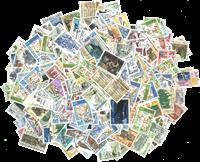 Færøerne - 130 gr. afvaskede frimærker