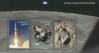 Sweden - Moon landing, 50th anniversary - Mint souvenir sheet