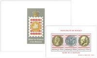 Monaco - Musée des timbres et des monnaies - Bloc-feuillet neuf gravé par Slania