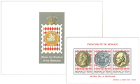 Monaco - Stamps and coins museum - Mint souvenir sheet engraved by Slania