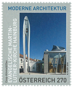 Autriche - Eglise M. Luther - Timbre neuf