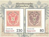 Østrig - Frimærker 1883 - Postfrisk miniark