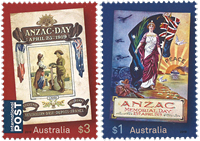 Australien - Anzac 2019 - Postfrisk sæt 2v