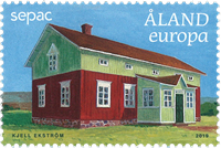 Åland - SEPAC - Maisons anciennes - Timbre neuf