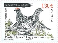Andorre Fr. - Europa 2019 Oiseaux - Timbre neuf