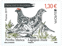 French Andorra - EUROPA 2019 National birds - Mint stamp