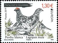 Fransk Andorra - Europa Fugle - Postfrisk frimærke
