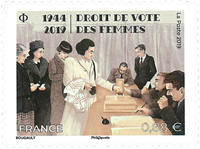 France - Womens right to vote - Mint stamp